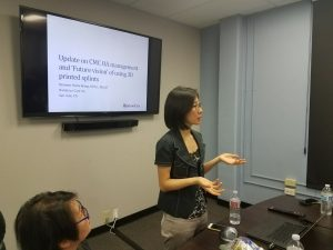 Stella Wang presented at the hand therapy monthly meeting